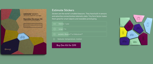estimote sticker