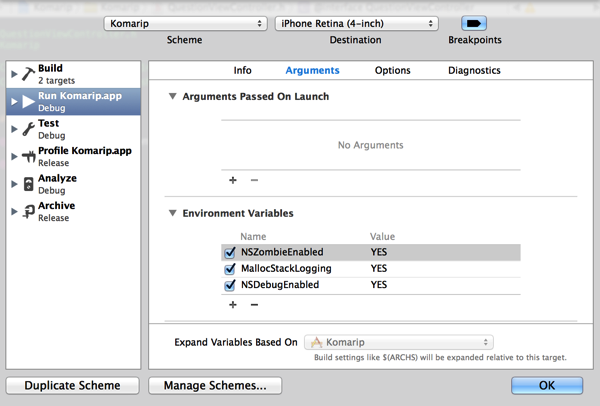 [Xcode]message sent to deallocated instanceが出た時の対処